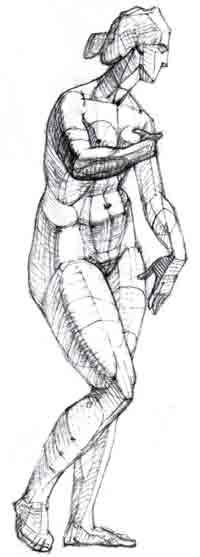 Рисуем карандашом фигуру человека