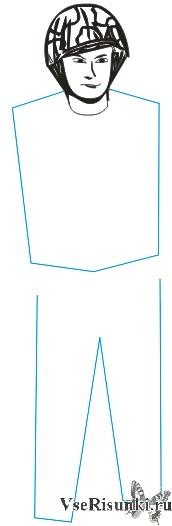 Как нарисовать солдата карандашом поэтапно