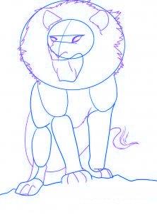 Рисуем льва или как нарисовать льва простым карандашом