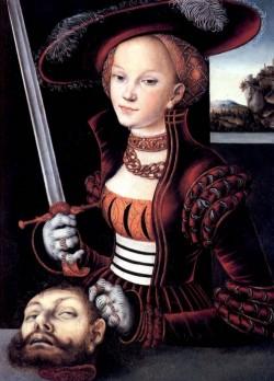«Юдифь с головой Олоферна» картина Лукаса Кранаха