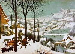 «Охотники на снегу» картина Питера Брейгеля Старшего