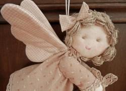 Рождественский ангел на елочку. Поделки своими руками.