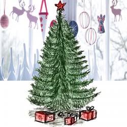 Рисунок новогодней елки карандашом