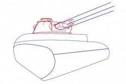 Как нарисовать войну танк карандашом поэтапно