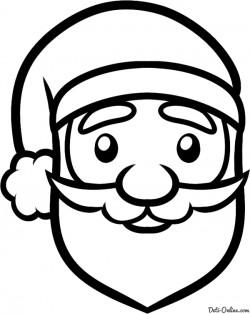 Как нарисовать лицо Деда Мороза карандашом поэтапно. Уроки рисования