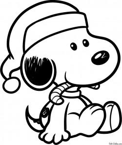 Как нарисовать новогоднего Снупи карандашом поэтапно. Уроки рисования
