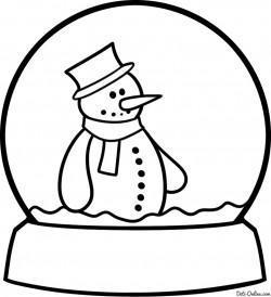 Как нарисовать снеговика в снежном шаре карандашом поэтапно. Уроки рисования